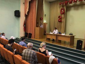 Дмитрий Башаров провел встречу с населением. Фото предоставлено управой Мещанского района