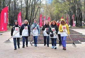 Городские субботники пройдут на 76 территориях округа. Фото: официальный сайт мэра Москвы