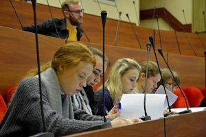 Студенты районного университета представили свои проекты. Фото: Анна Быкова