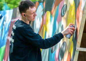 Граффити на улице Гиляровского закрасили в связи с новыми правилами. Фото: сайт мэра Москвы
