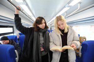 Москвичи смогут проголосовать за «вагоны тишины» в поездах МЦК. Фото: Светлана Колоскова, «Вечерняя Москва»