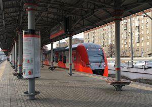 Станции Московского центрального кольца оборудуют санитайзерами. Фото: Анна Быкова