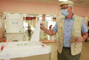 Москвичам рассказали о соблюдении санитарных правил на избирательных участках города. Фото: Наталия нечаева, «Вечерняя Москва»