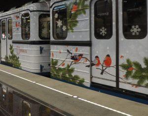 Новогодний поезд к можно будет увидеть на станции Проспект мира. Фото: Антон Гердо, «Вечерняя Москва»