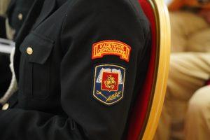 Торжественная церемония посвящения в кадеты прошла в Мемориальном музее-кабинете Маршала Советского Союза. Фото: Денис Кондратьев