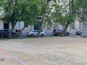 Работы по реконструкции спортивных площадок проводят в районе. Фото: с официального сайта главы управы района Дмитрия Башарова