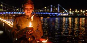 Коллектив школы №2054 поддержал акцию «Свеча памяти». Фото: сайт мэра Москвы